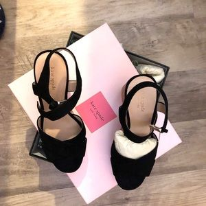 Brand New in Box Kate Spade black suede sandals